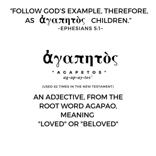 Agapetos Is The Greek Word For Beloved It Is Derived From The Greek Word Agape Which Expresses The Highest Form Of Love The Unconditional Love Of