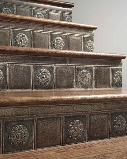 Stairs Stair Parts Accessories Metal Newels Balusters Stair Risers | Wood Stairs With Tile Risers | Color Scheme | Creative | Stair Outdoors | Grey | Tile Residential