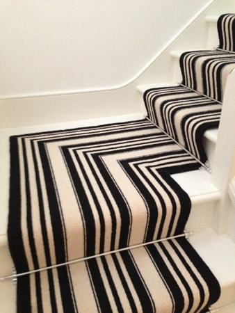 Black And White Striped Stair Carpet The Flooring Group   Black And White Carpet Stairs   Victorian   Striped   Geometric   Low Cost Simple   Unusual