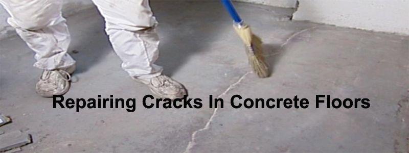 repairing cracks in concrete floors