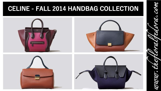 Céline Fall 2014 Handbag Collection