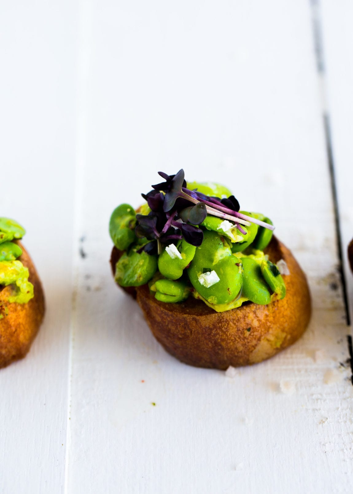 Broad Bean, Tarragon & Avocado Crostini | The Floured Kitchen
