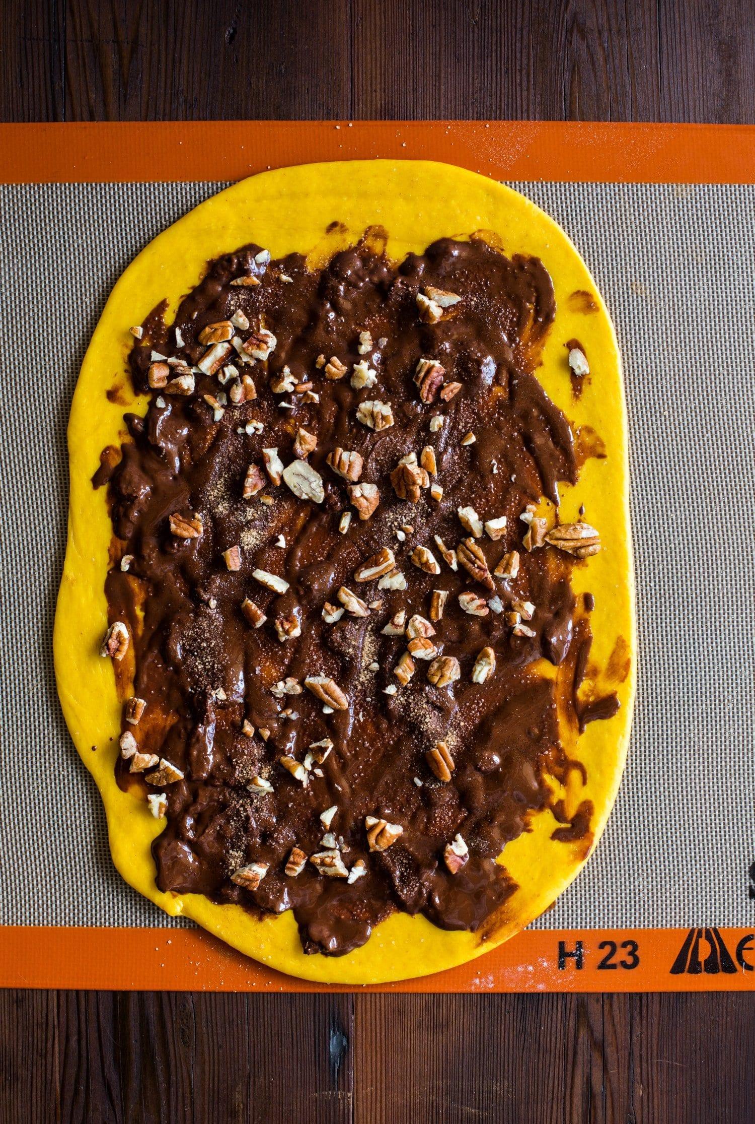 {vegan} Salted Chocolate Pecan Pumpkin Babkallah   The Floured Kitchen