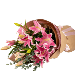 Pink Oriental Lilies Free Flower Delivery Auckland The Flower Delivery Company