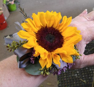 Prom Corsage Sunflower