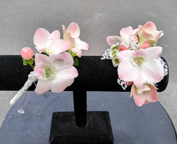 Prom Corsage and Boutonniere Light Pink