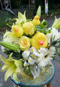 Rubber Duck Flower Baby Bouquet The Flower Diva