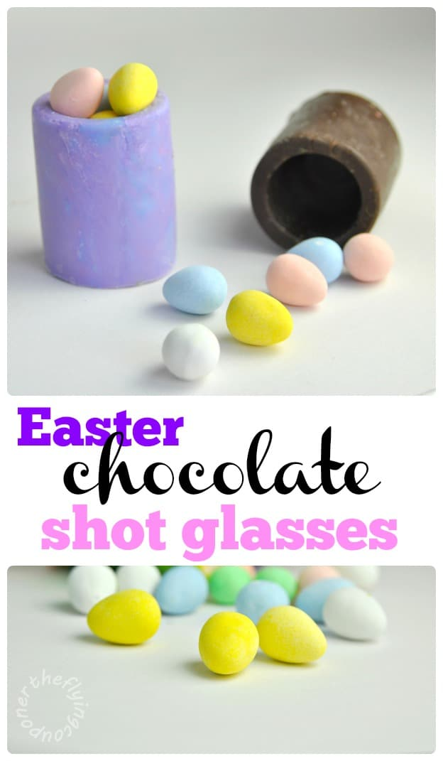 Easter Chocolate shot glasses recipe. The Flying Couponer.