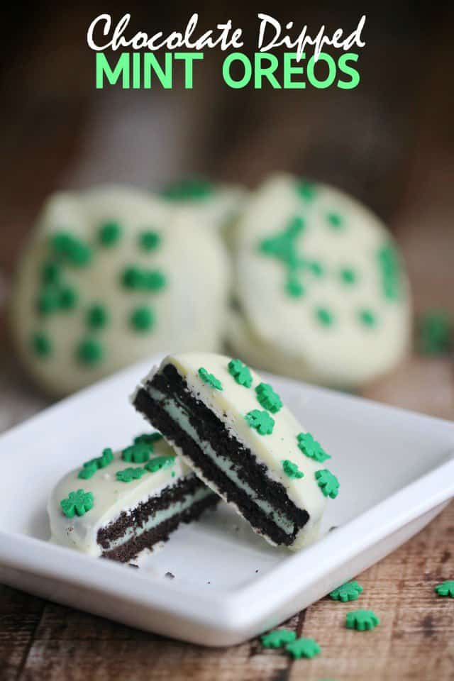 St. Patrick's Day Desserts. Oreos.