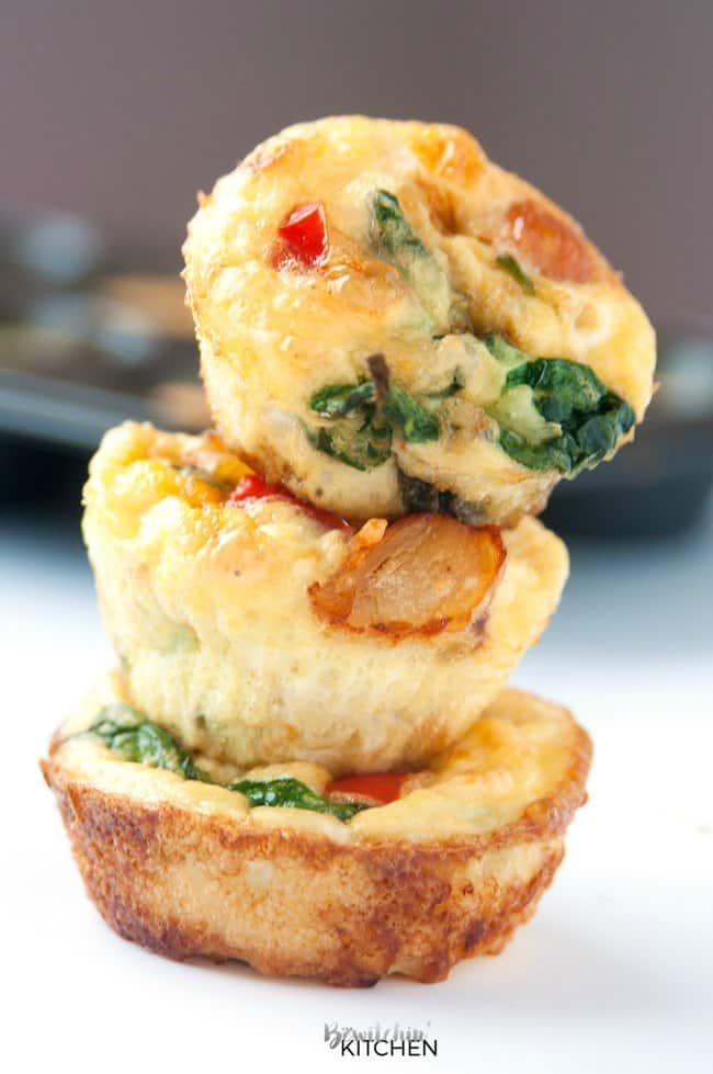 Healthy Breakfast Recipes. Chicken Breakfast Muffins.