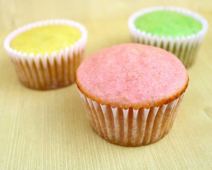 Spring Cupcakes with Homemade Frosting Recipe. Pastel colors.