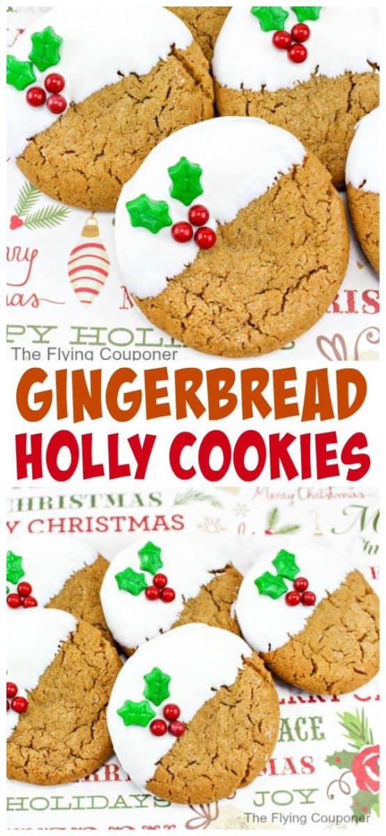 Gingerbread Holly Cookies. The Flying Couponer.