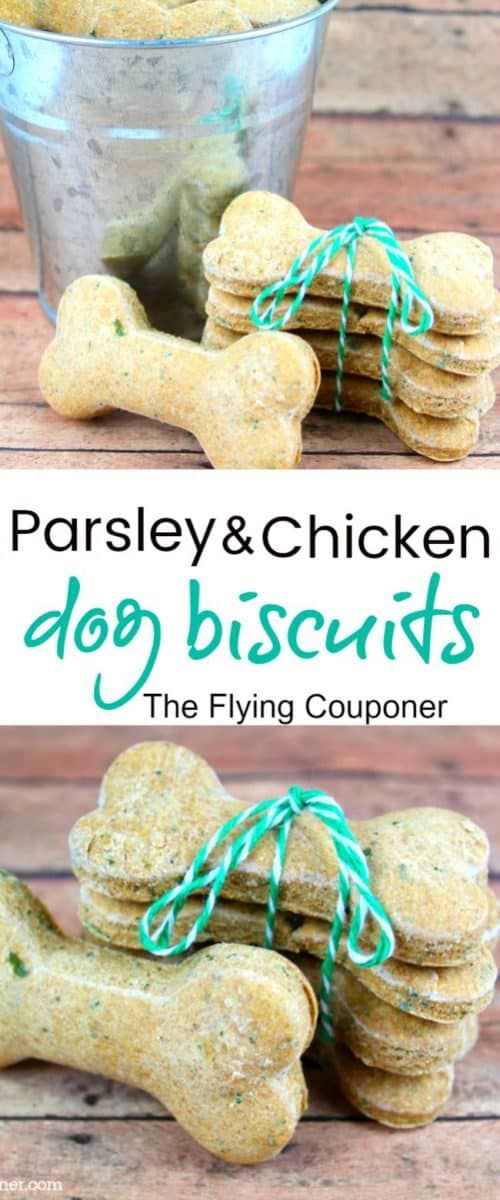 Chicken & Parsley Dog Biscuits