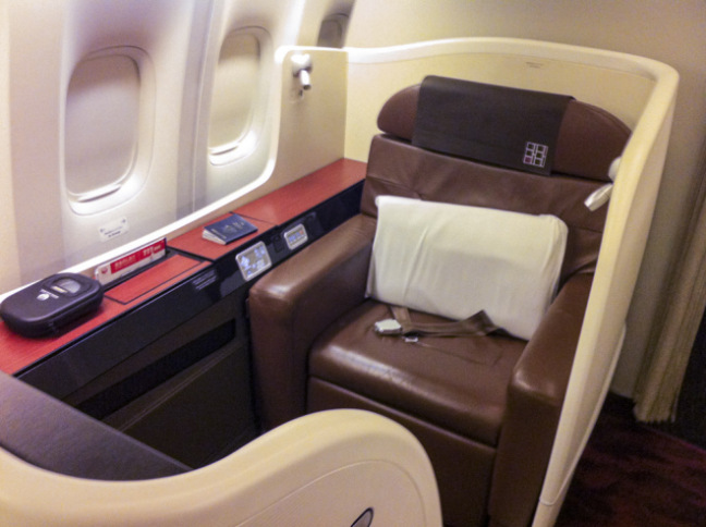 JAL First Class seat