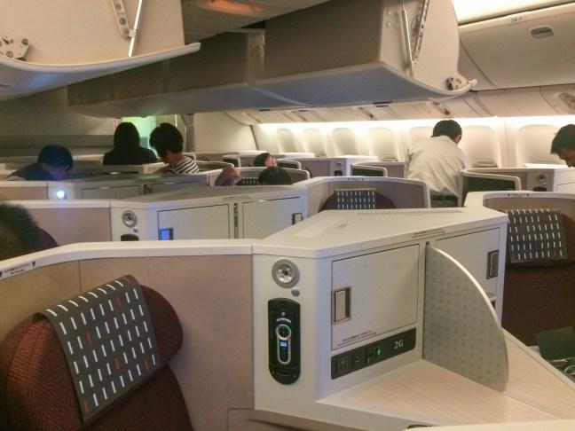 JAL business class
