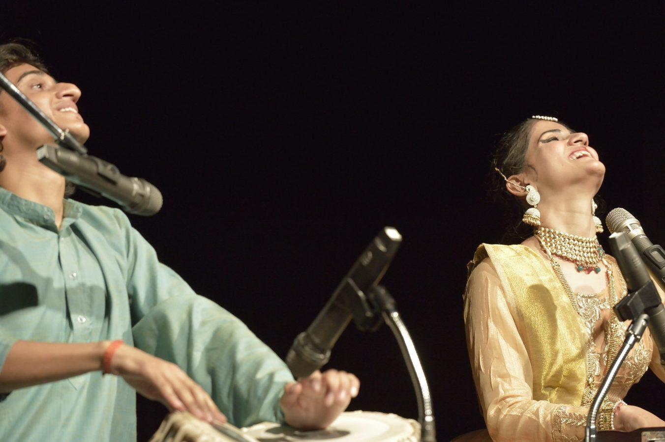 Akash and Awantika Dubey performing