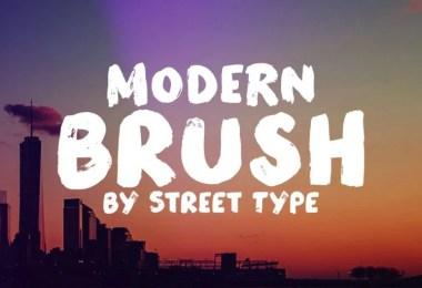 Modern Brush [1 Font]   The Fonts Master