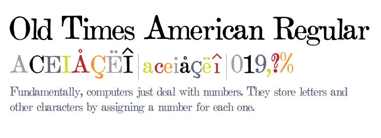 Old Times American [5 Fonts] | The Fonts Master