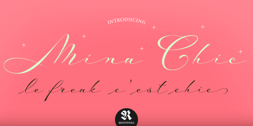 Mina Chic [2 Fonts]   The Fonts Master