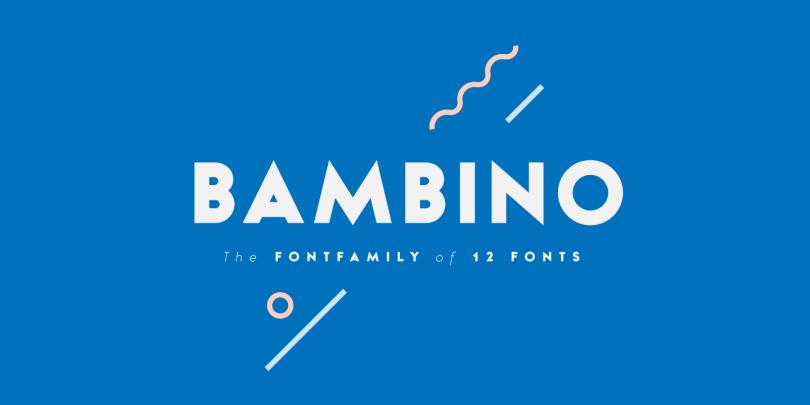 Bambino [12 Fonts] | The Fonts Master