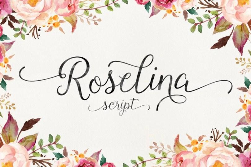 Roselina Script [1 Font]   The Fonts Master
