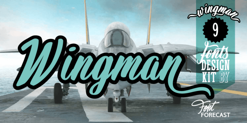 Wingman [9 Fonts] | The Fonts Master