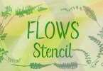 Flows Stencil [1 Font] | The Fonts Master