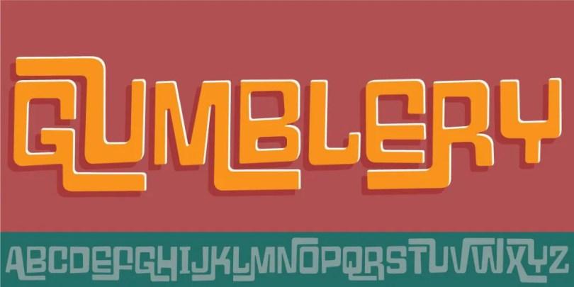 Gumblery [1 Font] | The Fonts Master