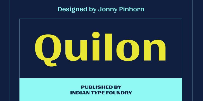 Quilon [4 Fonts]   The Fonts Master