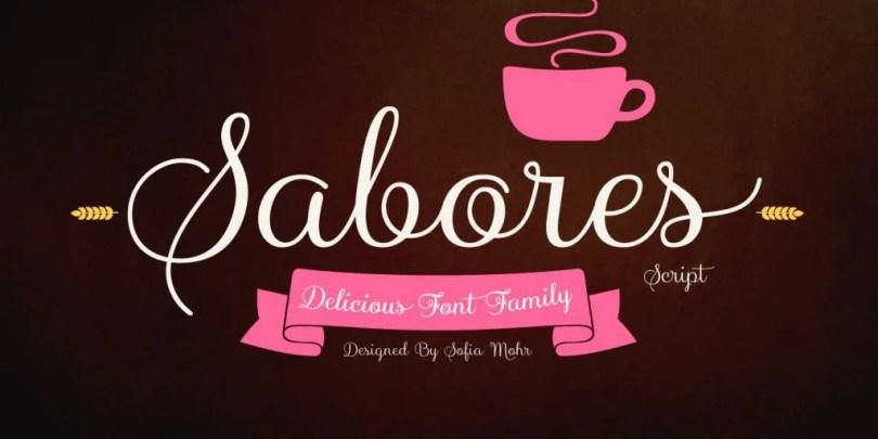 Sabores Script [11 Fonts]   The Fonts Master
