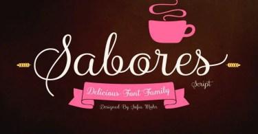 Sabores Script [11 Fonts]