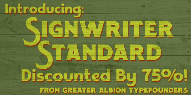 Signwriter Standard [1 Font] | The Fonts Master