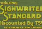 Signwriter Standard [1 Font] | The Fonts Master