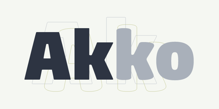 Akko Pro Rounded Super Family [12 Fonts]   The Fonts Master