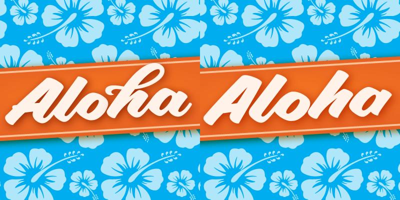 Aloha Script [2 Fonts] | The Fonts Master