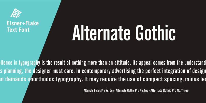 Alternate Gothic Pro Ef [3 Fonts] | The Fonts Master