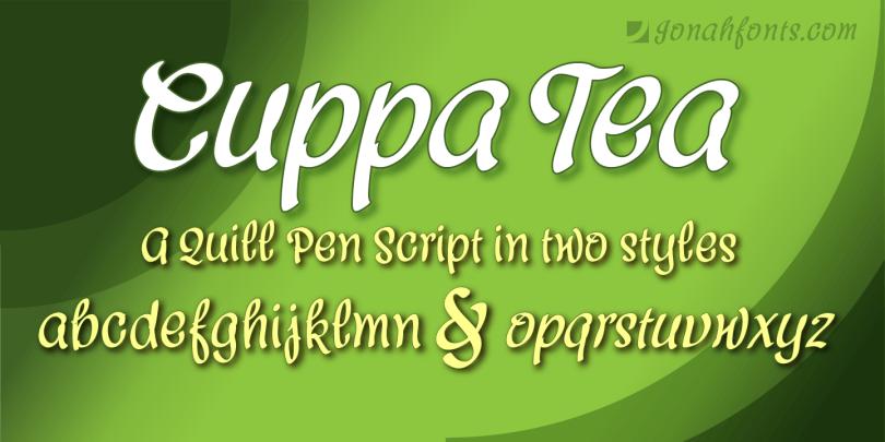 Cuppa Tea [2 Fonts] | The Fonts Master