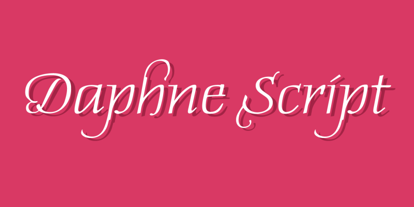 Daphne Script [1 Font]   The Fonts Master