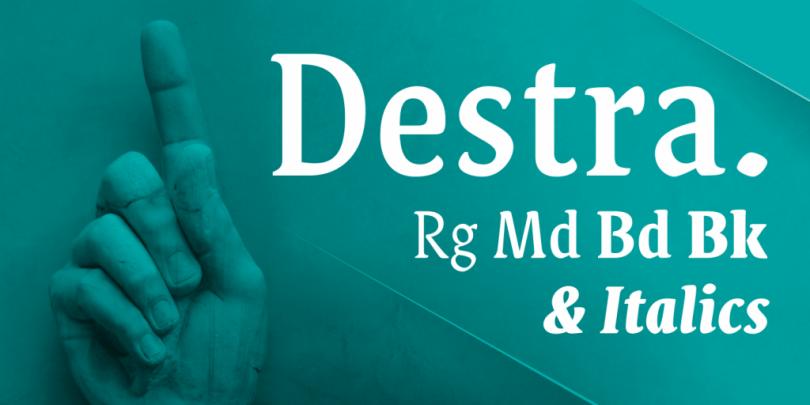 Destra [9 Fonts] | The Fonts Master