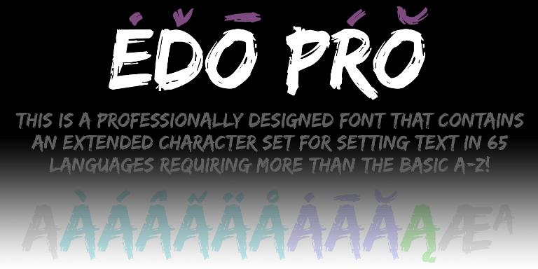Edo Pro [1 Font] | The Fonts Master