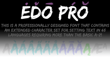Edo Pro [1 Font] | The Fonts Master