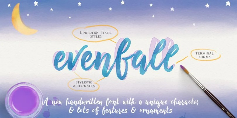 Evenfall [2 Fonts] | The Fonts Master