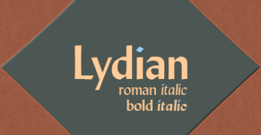 Lydian [4 Fonts] | The Fonts Master