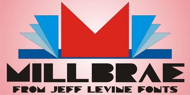 Millbrae Jnl [1 Font] | The Fonts Master