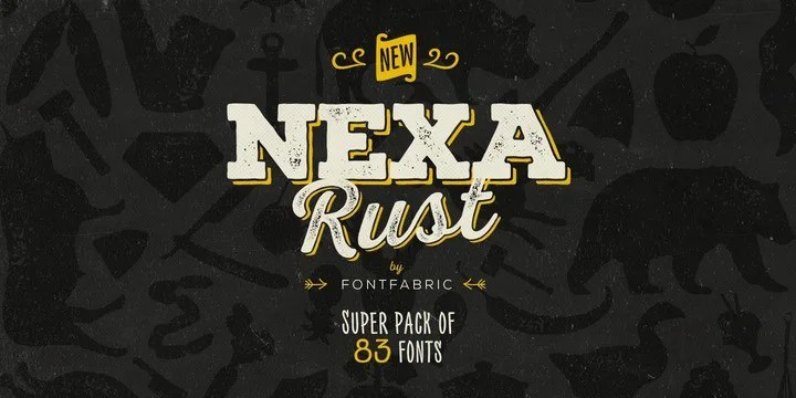 Nexa Rust Super Family [83 Fonts] | The Fonts Master