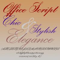 Office Script Dt [4 Fonts] | The Fonts Master