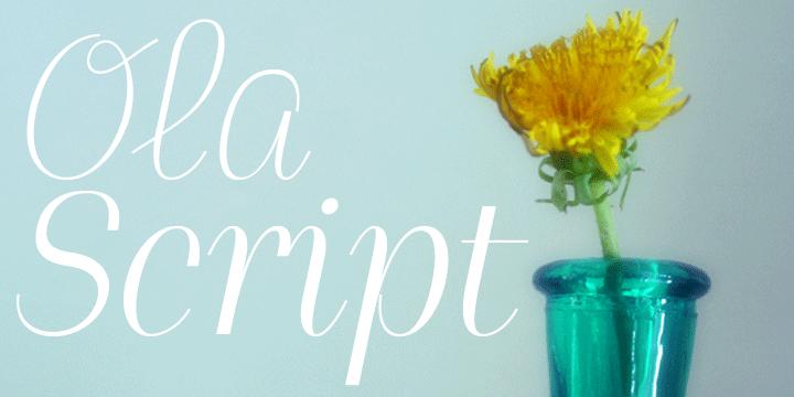 Ola Script 4F [2 Fonts]   The Fonts Master