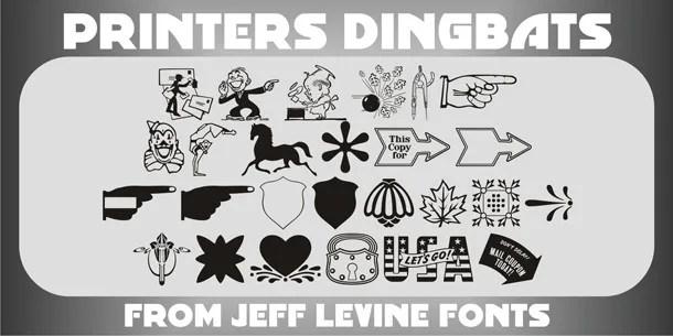 Printers Dingbats Jnl [1 Fonts] | The Fonts Master