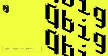 Qbig [3 Fonts]   The Fonts Master