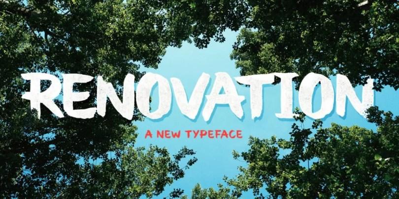 Renovation [1 Font]   The Fonts Master